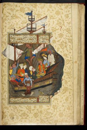حكايت غلام بي تاب در كشتي از گلستان سعدي