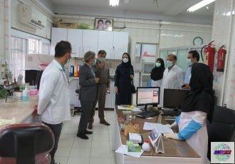 دکتر قنبرپورسرپرست مدیریت درمان استان از درمانگاه تخصصی تامین اجتماعی لاهیجان دیدارنمود