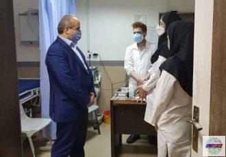 بازدید سرزده رییس دانشگاه علوم پزشکی گیلان از بیمارستان امیرالمومنین(ع) رشت