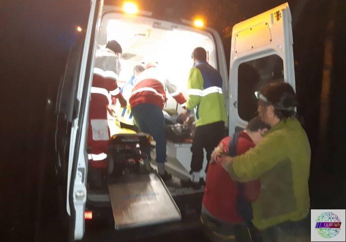 سقوط یک دستگاه خودروی پیکان وانت به دره ای در ارتفاعات شوندول شهرستان تالش